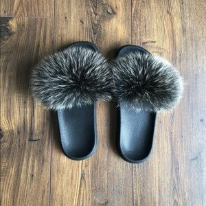Shoes - Real Fox Fur Sandals, 9